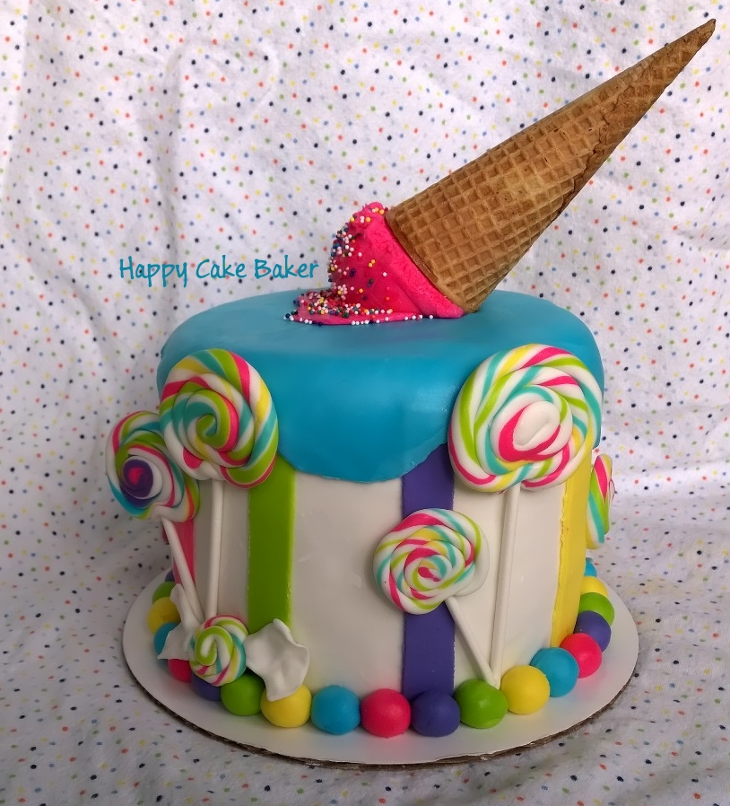 Awesome Candy Party Theme Happy Cake Baker Funny Birthday Cards Online Elaedamsfinfo