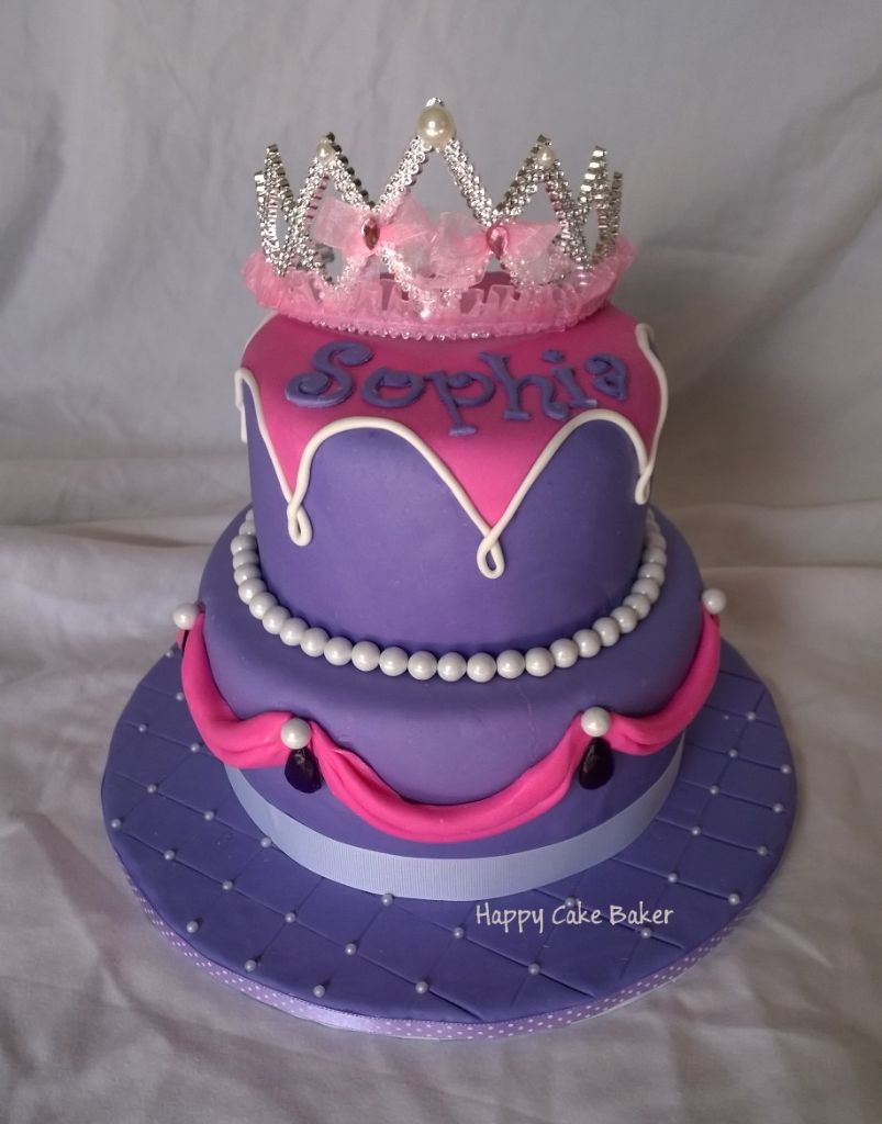 purple princess happy cake baker