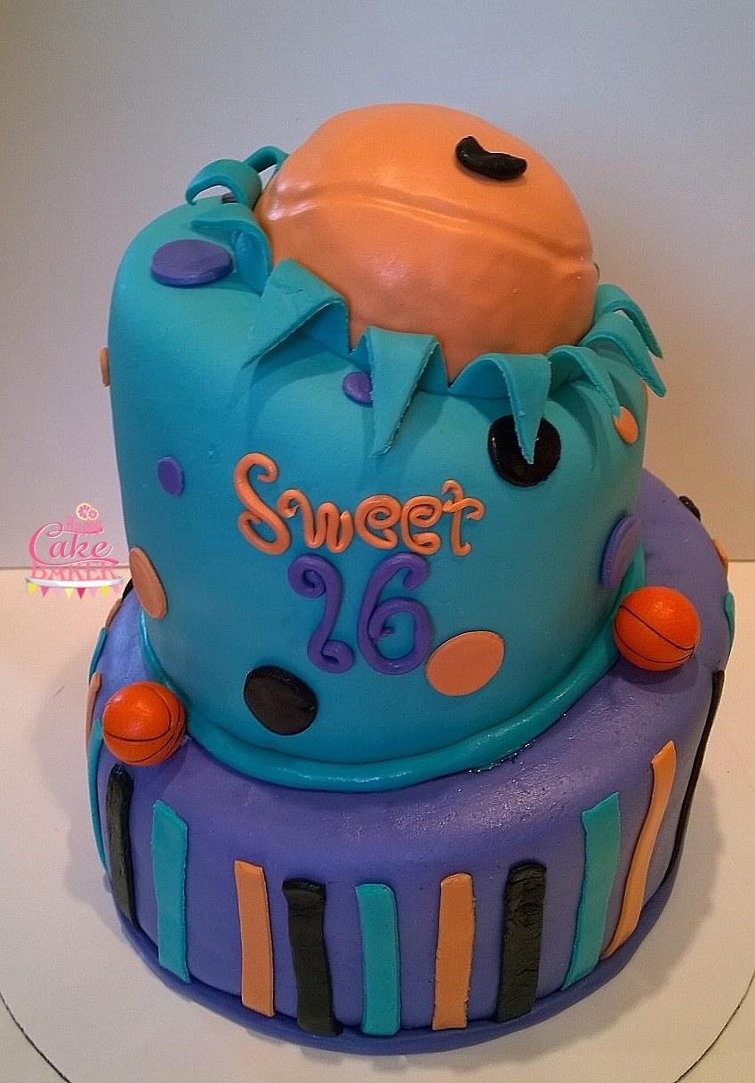 Groovy Basketball Sweet 16 Happy Cake Baker Funny Birthday Cards Online Inifofree Goldxyz