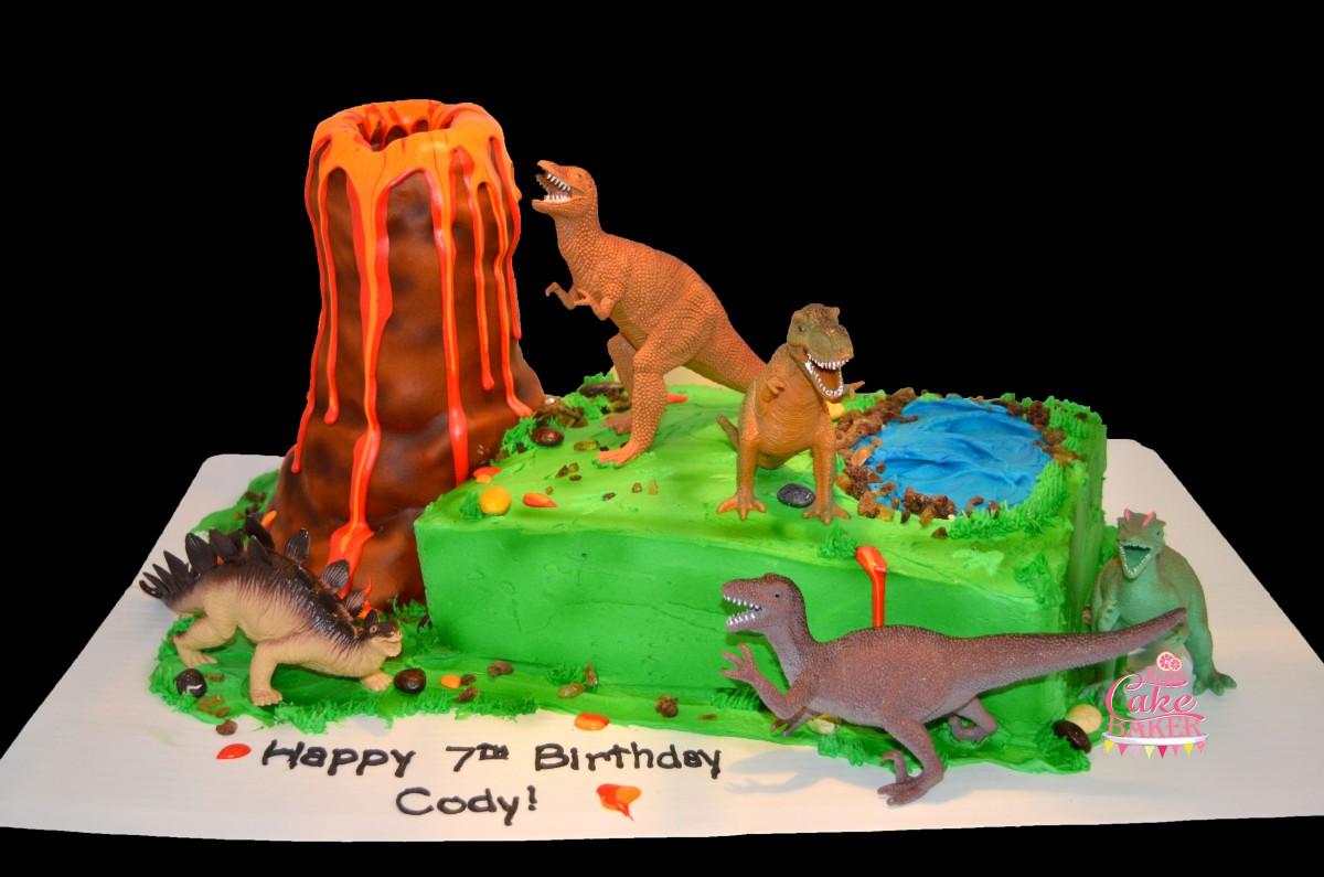 Terrific Smoking Volcano Cake Happy Cake Baker Personalised Birthday Cards Veneteletsinfo